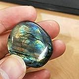 Mimiga Piedra de Luna de Cristal Labradorita Piedra Preciosa primitiva Piedra de pulir Piedras Naturales en Bruto para la decoración de Piedras Preciosas en Bruto