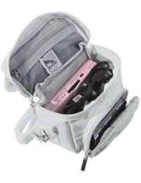 Orzly Travel Bag for Nintendo DS Consoles (Bolsa de Viaje para Consola Juegos y Accessarios) - Adapta TODOS Los Versiones de DS con Pantalla Plegable (Por ejemplo: DS / 3DS / 3DS XL / DS Lite / DSi / New 3DS / New 3DS XL / 2DS XL / etc pero no 2DS Modelo Version) - Bolso incluye: Correa para el Hombro Ajustable + Llevan la Manija + Fijación a un Cinturón - BLANCO