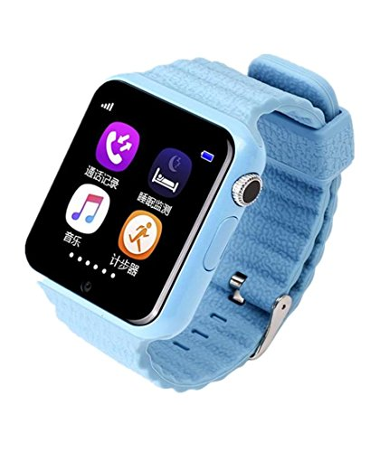 Preisvergleich Produktbild Joyeer Smart Watch Kinder Sicherheit Anti-Lost GPS Tracker Smartwatch Touchscreen mit Kamera Facebook Kinder SOS Notfall Baby Geschenke Uhr für Iphone & Android , blue