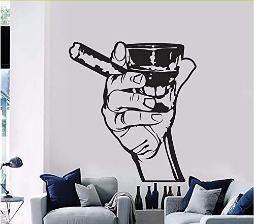 Kyzaa Classico Adesivo Drink Alcohol Men Bar Whisky Rum Sigaro Relax Adesivi Murali In Vinile Per La Cucina Living Room Decor