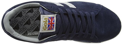 Gola Equipe Suede, Sneakers basses homme Bleu (Navy/Light Grey)