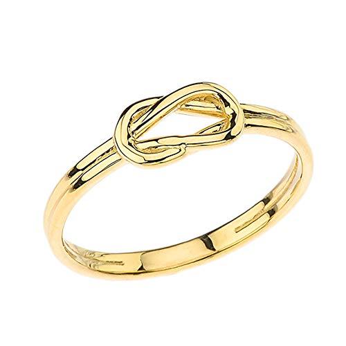 Kleine Schätze Damen Ring Hercules Love Knot Ring in 10 Karat Gelbgold