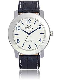 Xurious Enterprise Round Dial Analogue White Dial Black Leather Strape Fashion Wrist Watch For Men & Boys | XE_VL... - B07G17JTVQ