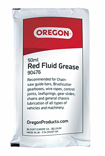 Oregon 90476rot Fluid Fett 50ml Sachet zur Schmierung Chainsaw Bar Nase Ritzeln (Chainsaw Bar)