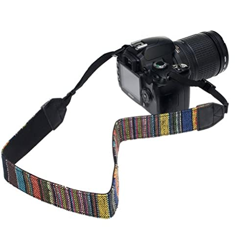 Birugear Shoulder Strap Neoprene with Multi-Coloured Print for DSLR Kodak