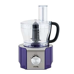 h koenig mx18 robot multifonctions violet 800 w cuisine maison. Black Bedroom Furniture Sets. Home Design Ideas