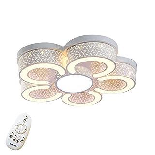 SAILUN® 72W LED Dimmbar Deckenlampe Kreative Deckenleuchte 5 Lampe C-förmige Markantes Design IP44 Energiesparlampe für Flur Wohnzimmer Schlafzimmer Küche Farbe Weiß (5 Lampe Weiß-Dimmbar)