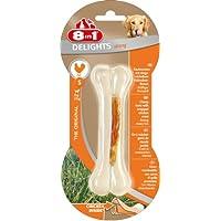8in1 Delights Chicken Kauknochen, Strong Größe S, für extra stark, kräftig kauende, 1 Stück (1 x 55 g)
