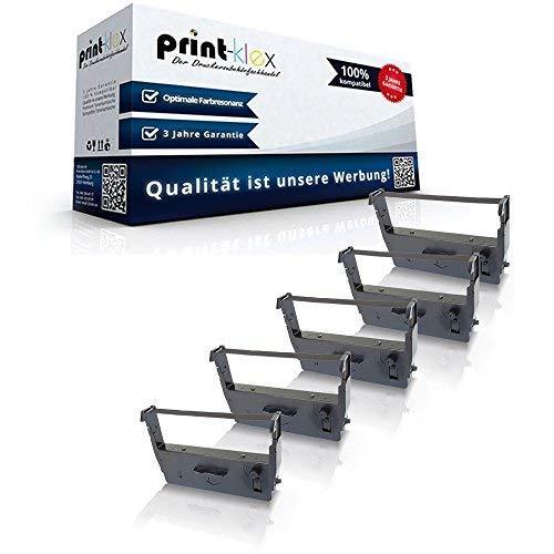 5x Kompatible Schriftbänder für Epson ERC 37 Omron RS2810 ERC37 Farbband Kassette Color Pro Serie - Epson Farbband Kassette