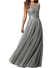 Kleid blau mit silber