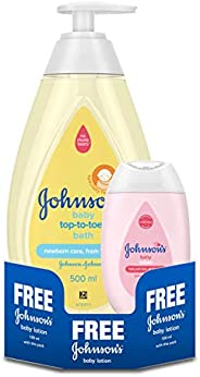 Johnson's Baby Top to Toe Wash 500ml and Baby Lotion 1