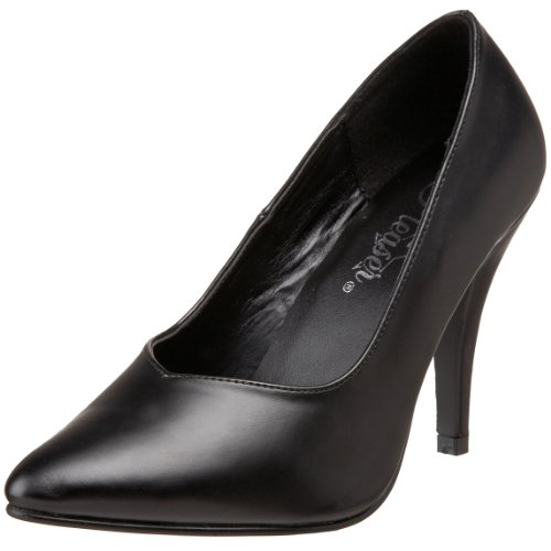 dca743ca4b233 Pleaser Pink Label Dream-420W, Women's Closed-Toe Pumps, Black (Blk Faux  Leather), 11 UK (44 EU)