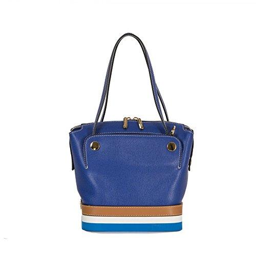 Arcadia designer Luminosa sac à main en cuir d'été Bleu