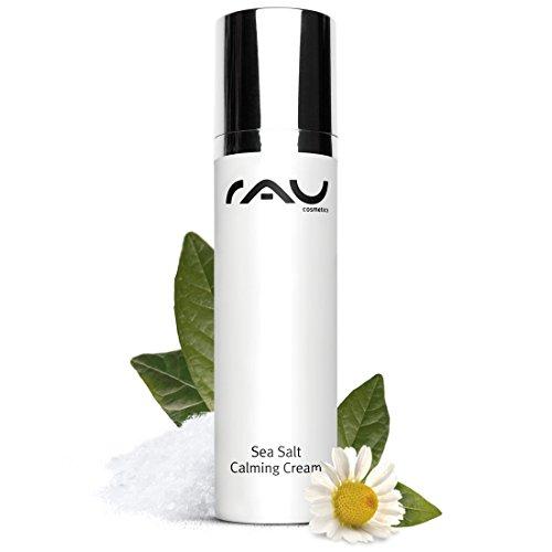 Gesicht Creme Mango Butter (RAU Sea Salt Calming Cream 50 ml - Angenehme Gesichtscreme mit Wertvollem Meersalz und PHA, Creme für Männer und Frauen, Anti Pickel)