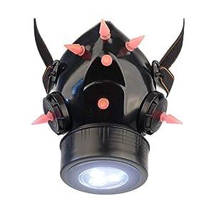 MB-Müller 87323-007-000 - Máscara de gas con pinchos UV y luz LED, unisex, color negro