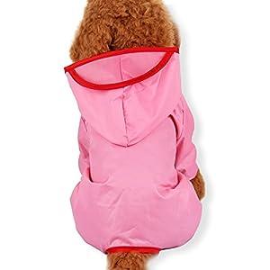 Die beste Wahl für Haustiere --- Jeder Regenbekleidung ist aus super atmungsaktivem wasserbeständigem, im Freien hellem Lackleder Material, so dass Ihr Haustier kann bequem trinken. --- Leicht mit einem wasserdichten Material, leicht i...