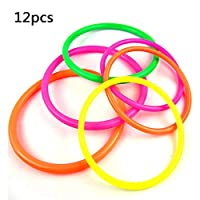 Motige Plastic Toss Rings Ring Quoits Game Throwing Rings Toy For Speed and Agility Training Practice Games