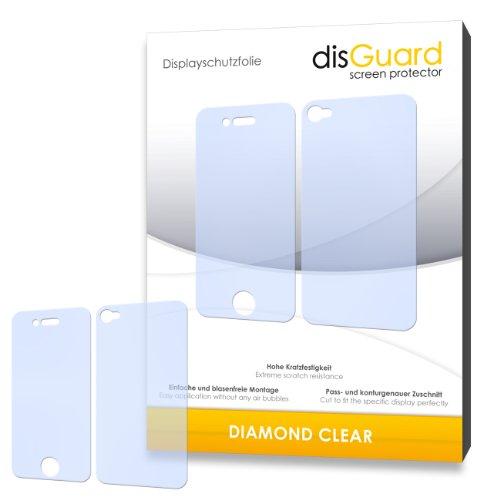 disGuard Displayschutzfolie für–PREMIUM QUALITÄT für Apple iPhone 4S