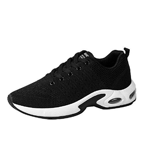 Baskets FantaisieZ Chaussures de Sport de Couleur Unie pour Hommes de Mode Sneakers d'Absorption de Choc de Ventilation d'Absorption des Chocs Croisées