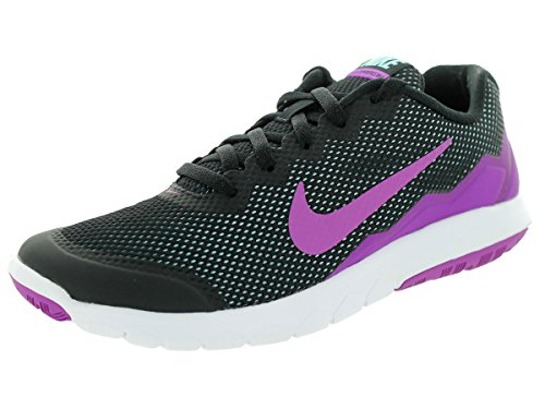 Nike Womens Flex Experience RN 4 Running Trainers 749178 Sneakers Shoes (uk 3 us 5.5 eu 36, black vivid purple copa white 010)