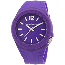 Bruno Banani br21053 Unisex Quartz Analog Watch with Plastic Strap - Purple