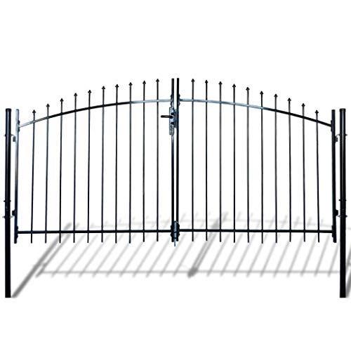 Daonanba Porte du jardin Porte de clôture à double porte 3 x 1.75 m