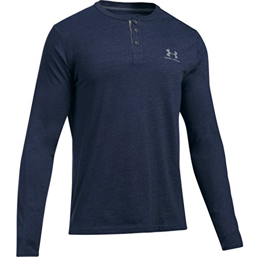 Under Armour Herren Fitness Sweatshirt Triblend Sportstyle Henley Midnight Navy, XL -