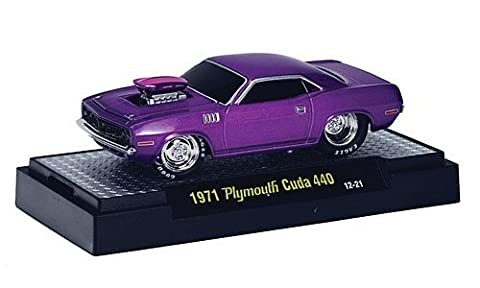 Plymouth Cuda 440, met.-purple , 1971, Model Car, Ready-made, M2 Machines 1:64 by Plymouth
