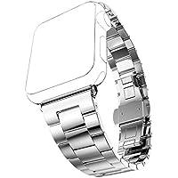 Cinturino Apple Watch, Pugo TOP® 0,2 cm ultra sottile in acciaio inossidabile Grand Series Slim adattarsi acciaio cinturino partita con cassa dell'orologio placcato Apple per Apple watch, cinturino di Apple in stile classico (Argento 42 mm)