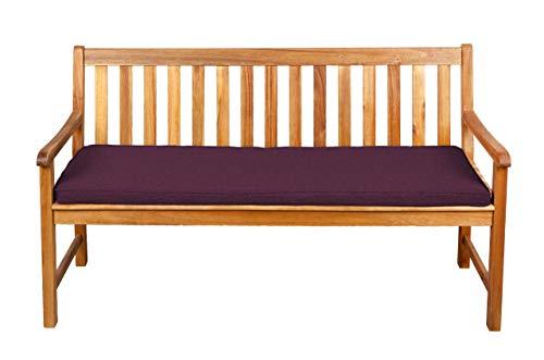 Bankauflage Stuhlkissen Hollywoodschaukel Bankkissen Sitzkissen SPARPREISE (130x50x5, Violett)