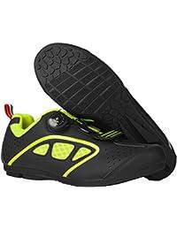 LDDOTR Los Hombres Zapatos De Bicicleta De Montaña MTB Antideslizantes Durables Zapatos De La Comodidad Multi-Uso De La Bicicleta Resistente Al Desgaste para El Ciclismo Viajar,Verde,43