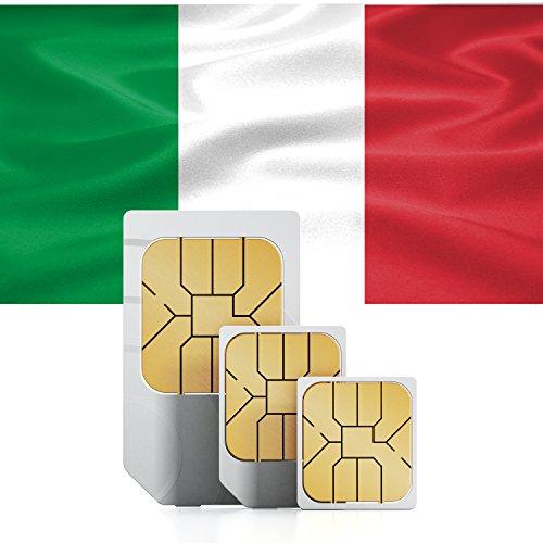 travSIM Italien Prepaid Daten SIM Karte + 2GB für 30 Tage - Standard,Micro & Nano SIM