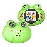 CamKing Kids Fotocamera Digitale, K5 HD 720P 12MP 8X 1,54 Pollici Screen Cartoon Fotocamera Digitale Portatile per Bambini (Verde)