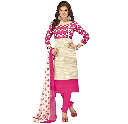 dress material (Fashion Forever Chiku and Pink Pure Cotton Partywear, Casual, Dailywear Churidar Winter Special Trending Unstitched Dress Material For Women 2017)