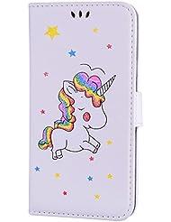 CXTcase Premium PU Leder Case Tasche Etui IPhone Flip Case Brieftasche Schutzhülle Wallet Ledertasche mit Standfunktion und Karte Halter für Apple iPhone