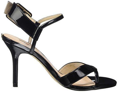 Guess Deetra2 Patent Pu, Sandales avec bride femme Noir - noir