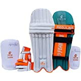 IWIN Sports Cricket Set Kit White Green All Size Top Quality Best Material Constructed All Sizes Shoulder Kit Best Tools Equipment Batting Set Without Bat