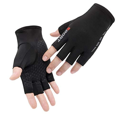 Cross Training Grips, Half Finger Cycling Racing Motocross Riding Gloves, Breathable Material One Size (1 Pair),for Training,pullups,Weight Lifting,etc.