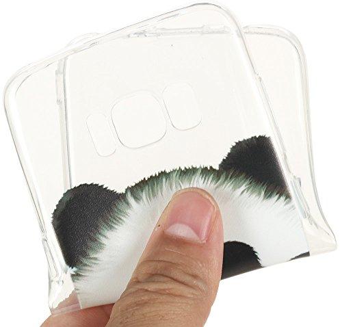 Nnopbeclik Silikon Transparent Hülle Für Samsung Galaxy S8, Ultra Slim Weich TPU Cover Case [Einfaches Design] Durchsichtig Blume Case Etui, Druck Multi Muster [Schmetterling] Niedlich Schutzhülle Glä Bär