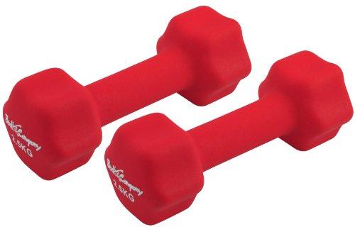 Bad Company | Neopren Gymnastik Hanteln | Kurzhanteln für Aerobic und Fitness | Rot 2 x 2,5 Kg
