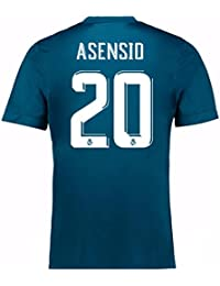2017-18 Real Madrid Third Football Soccer T-Shirt Camiseta (Marco Asensio 20