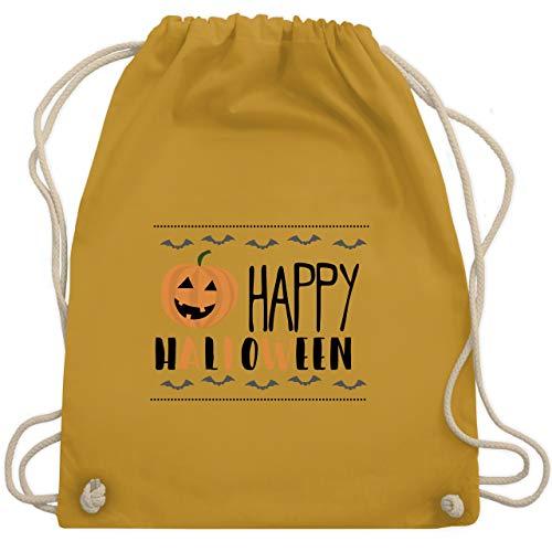 Halloween - Happy Halloween Kürbis - Unisize - Senfgelb - WM110 - Turnbeutel & Gym ()