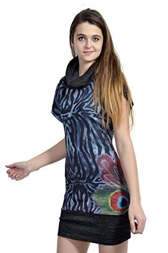 Robe femme sans manche col roulé SMASH fin de collection Bleu