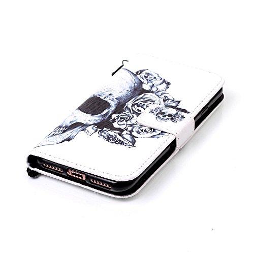 """iPhone 7 Coque Noir Cuir Portefeuille Etui Rabat Style Coloré Peinture Image ( Don't Touch My Phone ) Case pour Apple iPhone 7 4.7"""" Noir-6"""