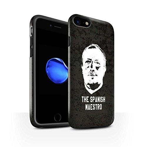 Offiziell Newcastle United FC Hülle / Glanz Harten Stoßfest Case für Apple iPhone 7 / Skizze Muster / NUFC Rafa Benítez Kollektion Spanisch Maestro