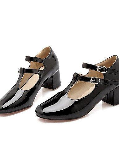 WSS 2016 Chaussures Femme-Bureau & Travail / Habillé / Décontracté-Noir / Rouge / Gris-Gros Talon-Talons / Escarpin Basique / Bout Carré-Talons- red-us9 / eu40 / uk7 / cn41