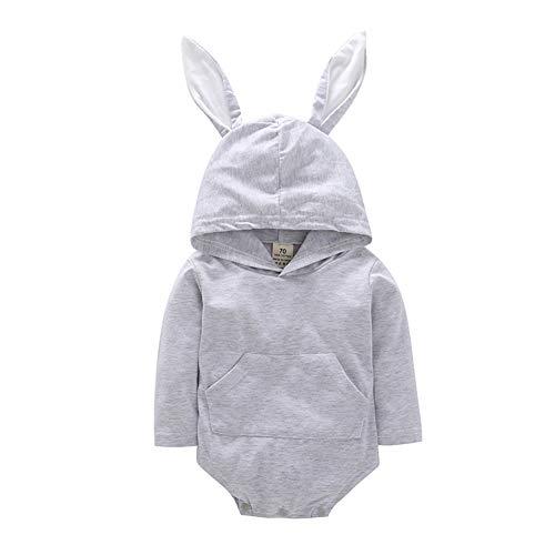 Fairy Baby Baby Mädchen Osterhase Kostüm Overall Ohr mit Kapuze Bodysuit niedliche Kleidung Size 80(6-12 Monate) ()