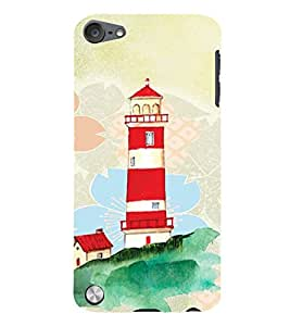 PrintVisa Travel Lighthouse Art 3D Hard Polycarbonate Designer Back Case Cover for Apple iPod Touch 5