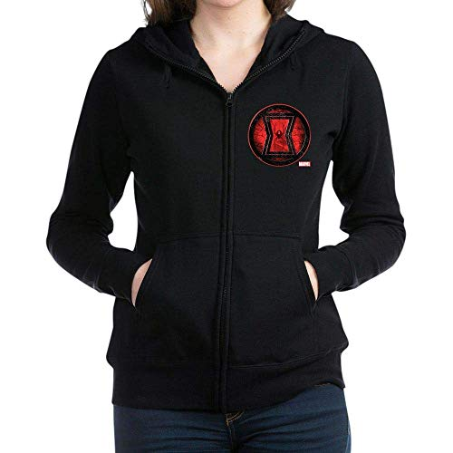hotspu Black Widow Grunge Icon Women's Zip Hoodie