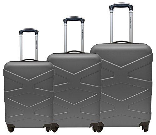 Set 3 trolley valigia rigida con bagaglio a mano cabina gianmarcoventuri fmxd011st_(silver)